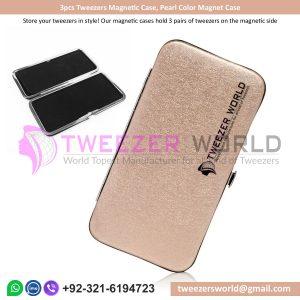 3pcs Tweezers Magnetic Case, Pearl Color Magnet Case