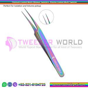 Titanium Coated Multi Oblique Straight Tweezers, Plasma Coated Multi Tweezer